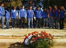 Активисты Союза молодежи СОЦПРОФ на Вахте памяти